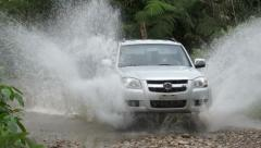 Puddle Jumping 4x4 Off-road Truck - stock footage