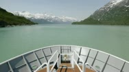 Stock Video Footage of Point of view time-lapse on a bow of a ship approaching Margerite Glacier in
