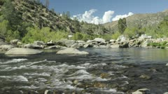 Time lapse of clouds passing over the Upper Kern River in Sequoia National Stock Footage