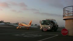 Airport Fuel Truck Stock Footage