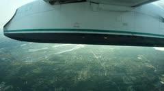 Arriving flights landing transport travel arrival successful outdoors flight Stock Footage