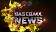 Stock Video Footage of Baseball News Red, with Alpha Channel - HD1080