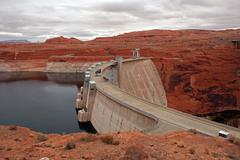 Scenic Glen Canyon Dam Stock Photos