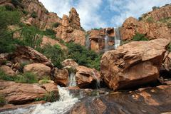 Bisbee Arizona Rocky Waterfall Stock Photos