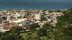 Roseau Dominica - stock footage