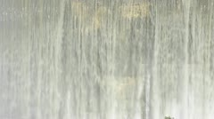 Front detail view of Matilija Creek spilling over the obsolete Matilija Dam - stock footage