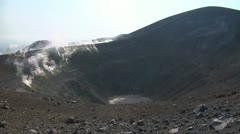 Vulcano crater 05 Stock Footage