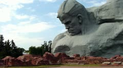 """Stock Video Footage of Brest, Belarus - 08.04.2012: Monument of the Brest Fortress - """"Courage"""""""