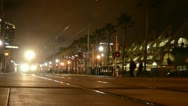 San Diego's Orange Line Trolley leaving the National Historic District in the Stock Footage