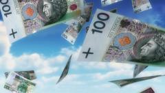 Money from Heaven - PLN (Loop) Stock Footage