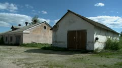 Two abandoned buildings Stock Footage