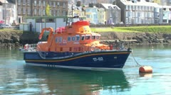Lifeboat Moored Stock Footage