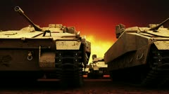 Military Tanks, Seamless Loop Stock Footage