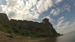 Old fortress in Belgorod Dniester, Ukraine Stock Footage