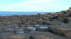 Giant's Causeway Rocks Stock Footage