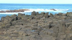 Giants Causeway Plateau Stock Footage