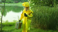 Hazmat lakeside readings Stock Footage