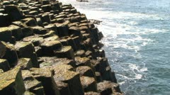 Giant's Causeway Coast Stock Footage