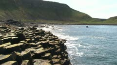 Giant's Causeway Atlanic Ocean Stock Footage