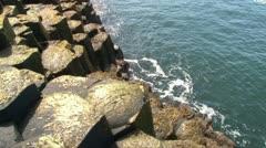 Giant's Causeway Sea Stock Footage