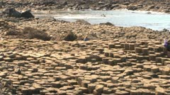 Giants Causeway Visitors Stock Footage