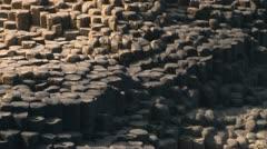 Giant's Causeway Tourism Stock Footage