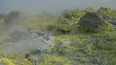 Vulcano fumarole 09 Stock Footage
