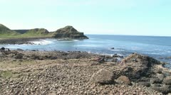 Giant's Causeway Panorama Stock Footage
