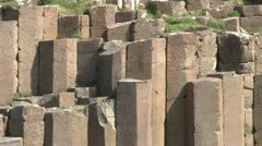 Giant's Causeway Stacks Stock Footage
