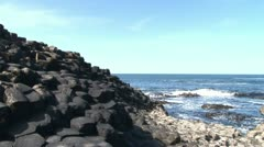 Giant's Causeway National Monument Stock Footage