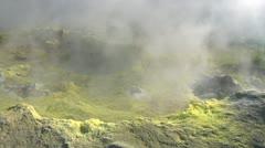 Vulcano fumarole 10 Stock Footage