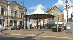 Town Centre Bandstand Stock Footage