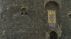 Carrickfergus Medieval Castle Stock Footage