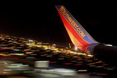 Southwest Airlines Night Abstract Stock Photos