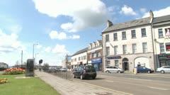 Carrickfergus Road and Castle Stock Footage