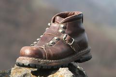 Old walking shoe Stock Photos