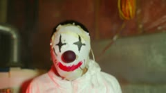 weird clown haloween - stock footage