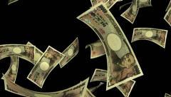 Falling Yen (Loop + Matte) - stock footage