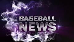 Baseball News Blue, with Alpha Channel - HD1080 Stock Footage