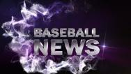 Stock Video Footage of Baseball News Blue, with Alpha Channel - HD1080