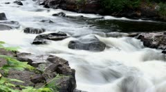 Water rapids time lapse Stock Footage