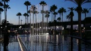 Fanfare Fountain at The Port of Los Angeles Stock Footage