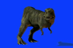 T-Rex in FS watching prey.mp4 - stock footage