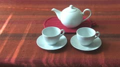 Tea for Two Stock Footage