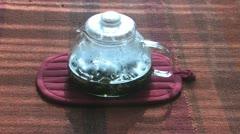 Making Green Tea Stock Footage