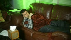 Sick flu sick day feeling bad Stock Footage