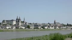 The city of Blois - stock footage