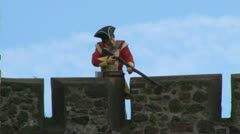 British Redcoat Soldier Stock Footage
