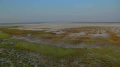 flight over salt lake HD - stock footage