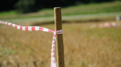Barrier tape in wind Stock Footage